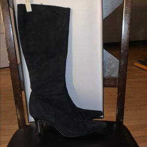 Sacco knee high suede boots